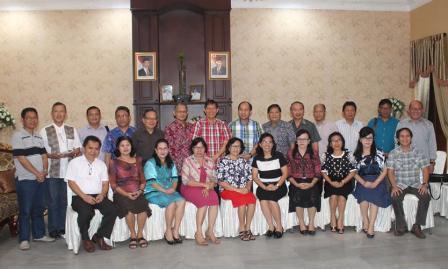 Lumentut Shering Pelayanan Dengan Ketua Wilayah GMIM di Manado
