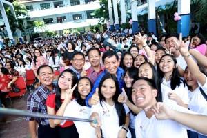 Selfie ria Walikota di SMA1
