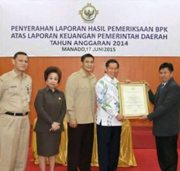 Raih WTP, Walikota Cerdas Catat Sejarah Baru di Kota Manado