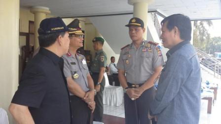 Walikota Manado Hadiri Gelar Pasukan di Polda Sulut