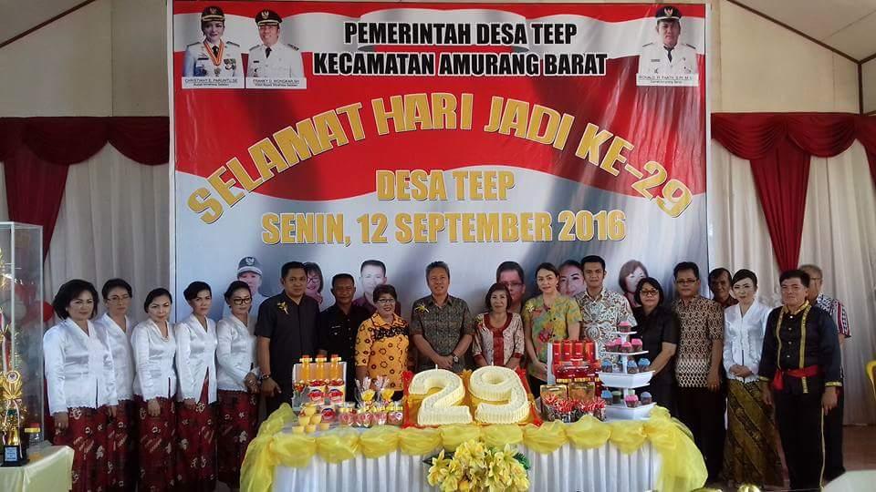 Wabup Hadiri Hari Jadi Desa Teep ke- 29 Tahun