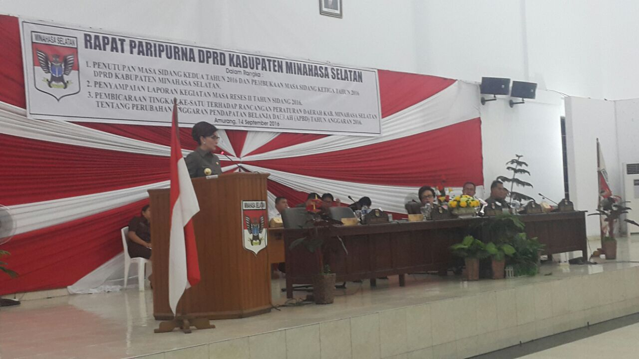 DPRD Minsel Paripurnakan Tiga Agenda Sekaligus