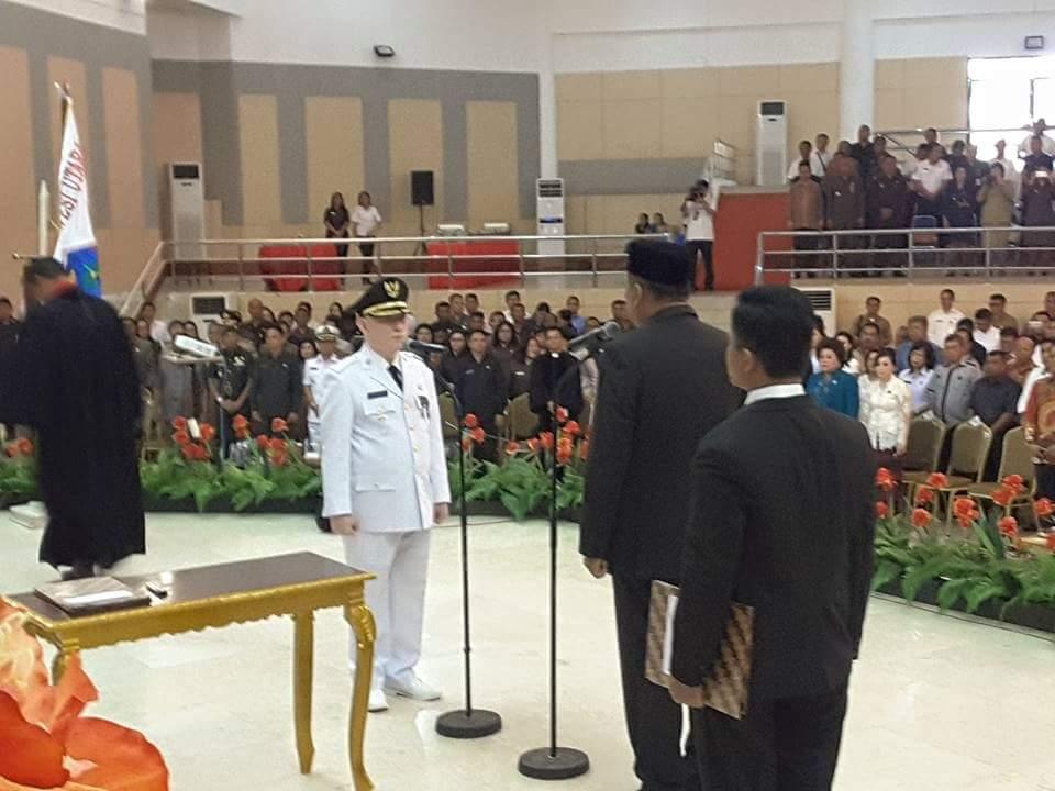 Dilantik Penjabat Bupati Sangihe, Ini Pesan Gubernur Olly Kepada Palandung
