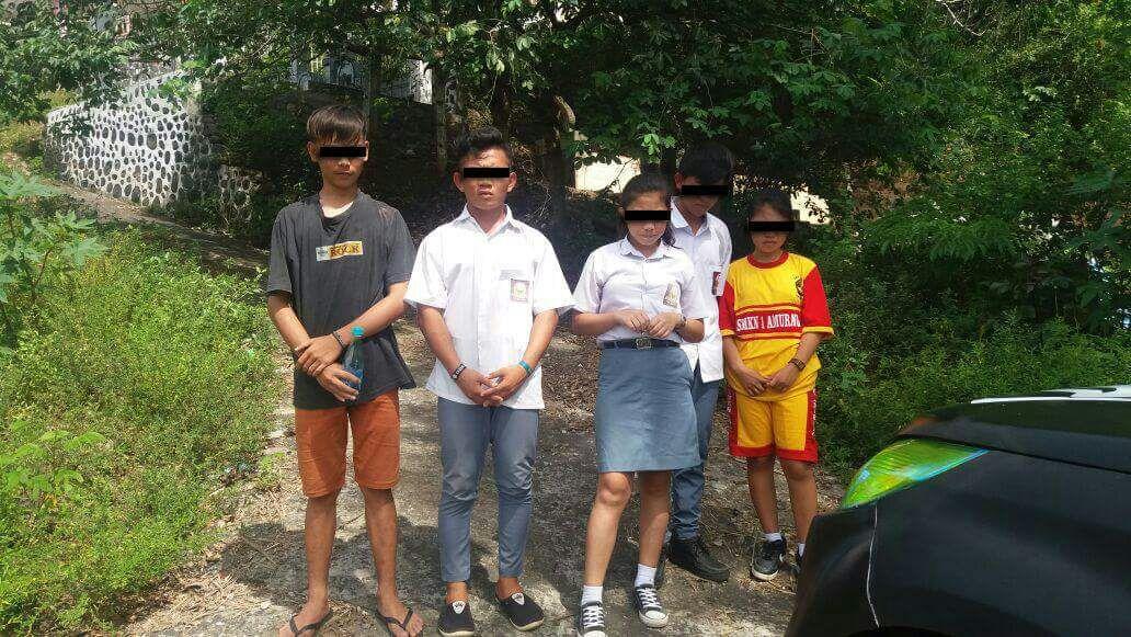 Asyik Pesta Miras dan Ehabon, 5 Pelajar Diamankan Tim Patola Polres Minsel