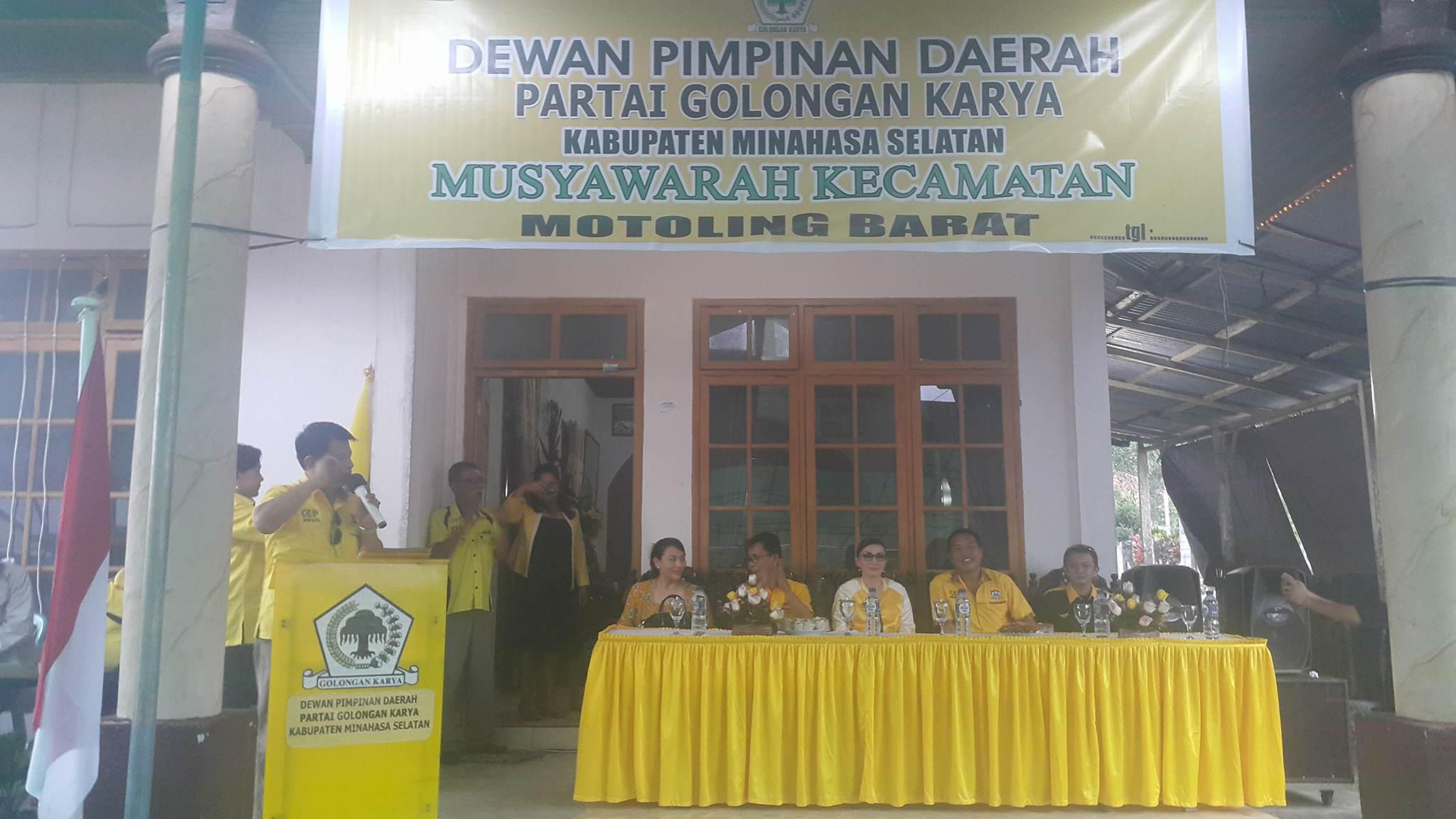 Paat dan Onibala Pimpin Partai Golkar Motoling dan Motbar