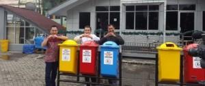 penyaluran tempat sampah