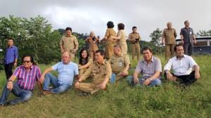 Sejumlah Kepala SKPD terkait pengembangan pariwisata mendampingi Wali Kota Manado, GS Vicky Lumentut meninjau Bukit Doa Gunung Tumpa