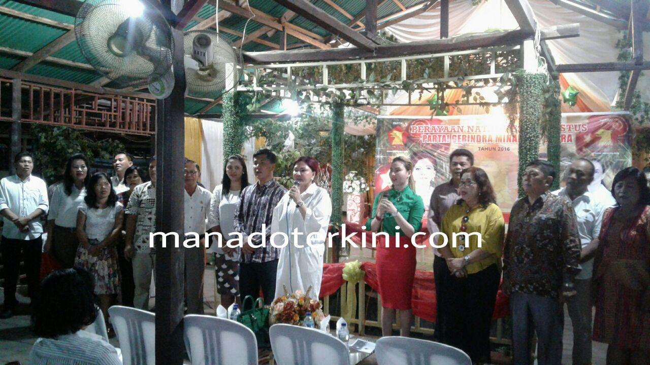 Ketua DPD Partai Gerindra Sulut Berharap DPC Minut Jadi Berkat Bagi Masyarakat