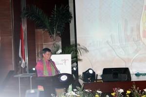 Walikota Manado, GS Vicky Lumentut saat Launching Kalender Iven Pesona Wisata Manado 2017 di Gedung Sapta Pesona Kementerian Pariwisata RI, Senin (21/11/2016)