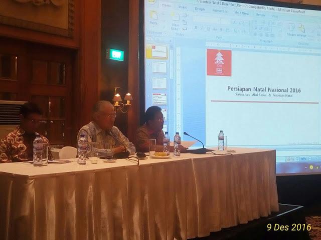 Rapat Pleno Natal Nasional Dihadiri Sekprov Edwin Silangen