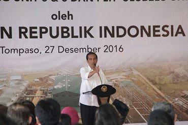 Resmikan PLTP Lahendong dan Ulubelu, Jakowi Sebut Penyerapan Tenaga Kerja Lokal