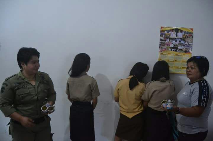 Asyik Pesta Ehabon, Tiga Siswi SMP Amurang Diamankan Satpol – PP
