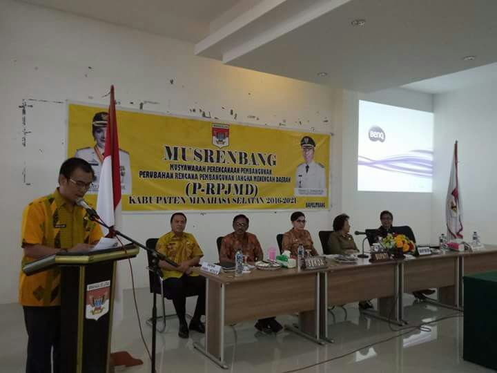 Pemkab Minsel Gelar Musrembang Penyusunan Perubahan RPJMD 2016-2021