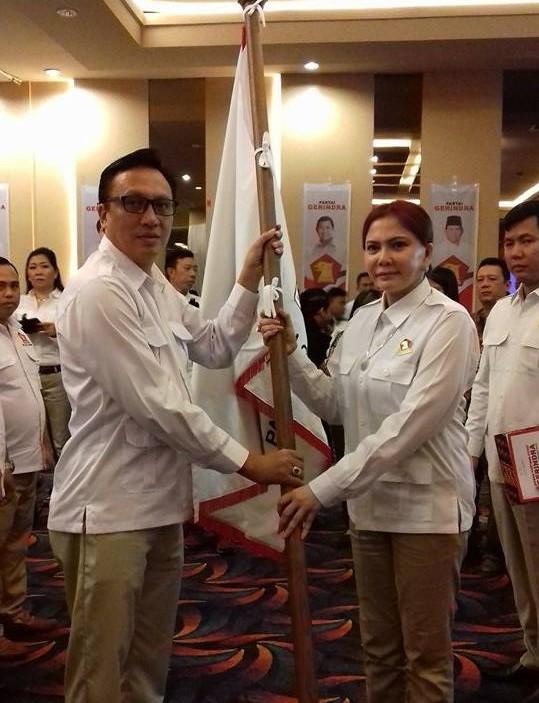 Serang Resmi Pimpin Gerindra Manado