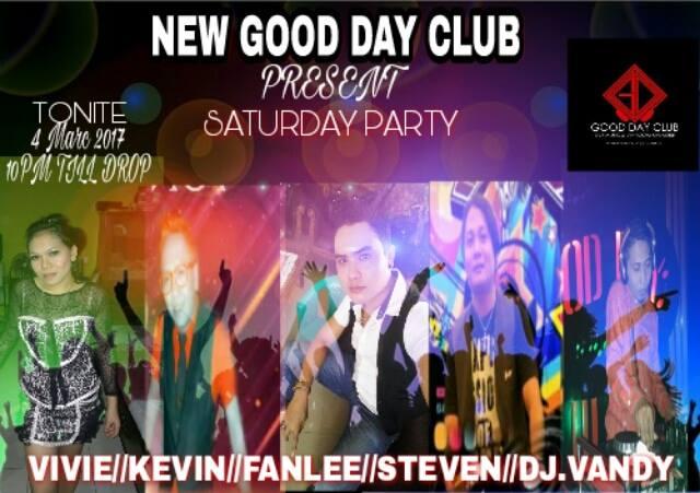 Malam Ini Saturday Party Hentak Panggung New Good Day Club