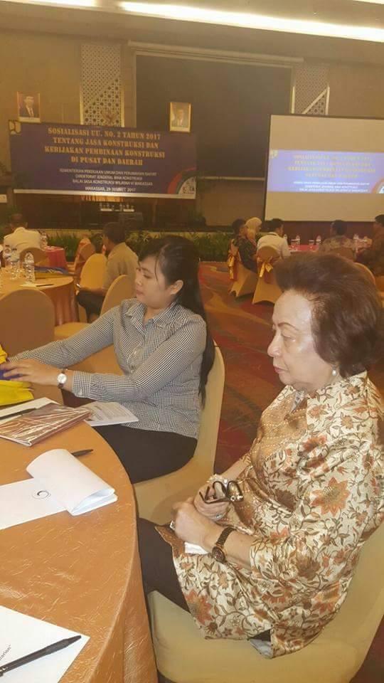 Ketua DPRD Minsel Hadiri Sosialisasikan UU No 2 Tahun 2017 di Makasar