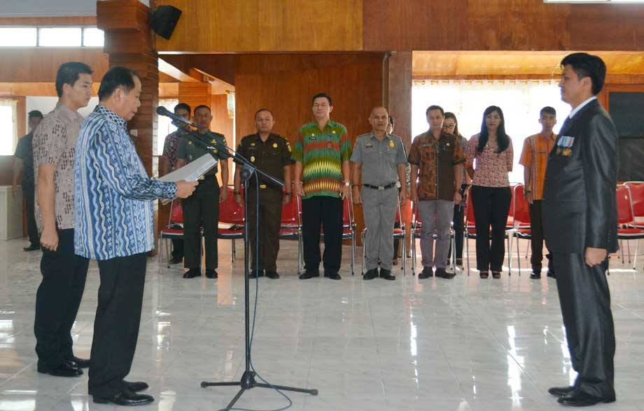 Lomban Lantik Pengemanan Sekretaris Daerah Kota Bitung