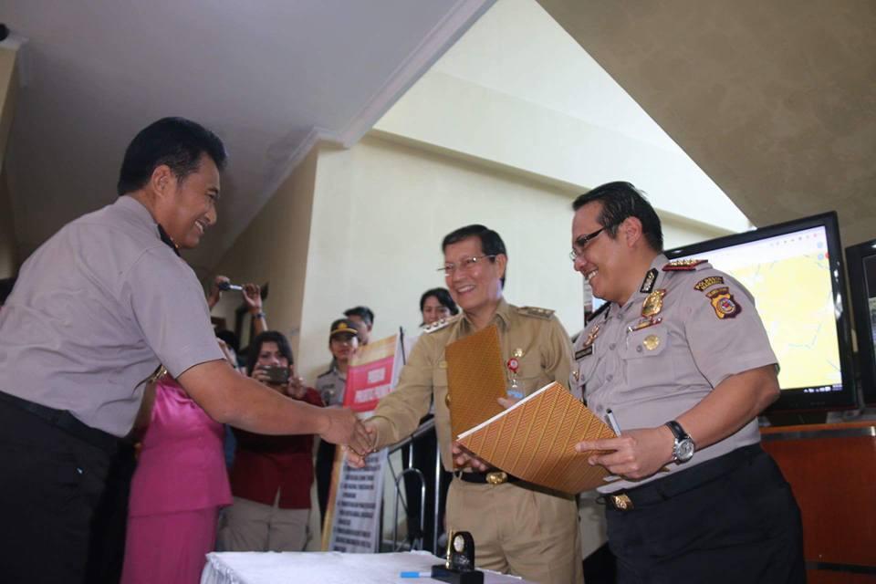 Upaya Tekan Kriminalitas, Walikota dan Kapolres Manado Teken MoU