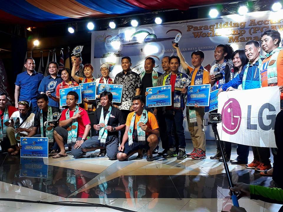 Kejuaraan Paragliding Accuracy World Cup Serie 1 di Manado Sukses