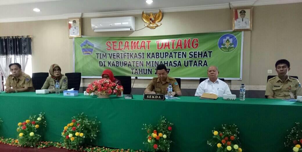 Tim Verifikasi Kabupaten Sehat Turun di Minut