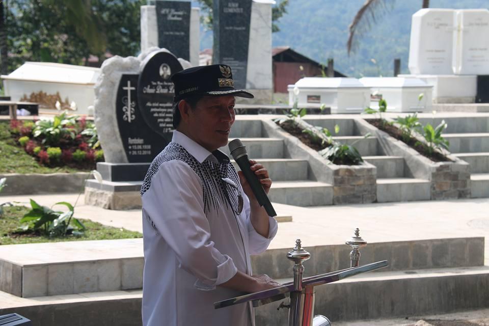 Penghormatan Terhadap Leluhur, GSVL Bangun Taman Pemakaman Keluarga di Remboken