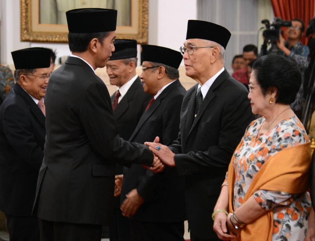 Presiden Lantik 9 Pengarah dan Kepala UKP Pembinaan Idiologi Pancasila