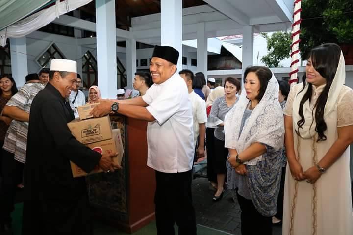 Pemprov Sulut Buka Puasa Bersama di Mesjid Agung Al-Falah Kiay Modjo