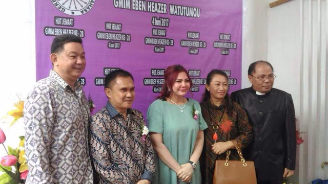Gubernur Ingatkan Jemaat GMIM Eben Haezer Soal Pembinaan Generasi Muda