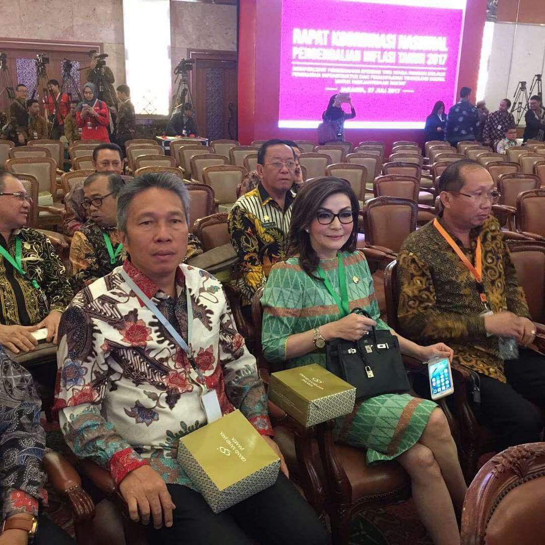 Bupati, Wabup dan Sekdakab Minsel Hadiri Rakornas TPID Tahun 2017 di Jakarta