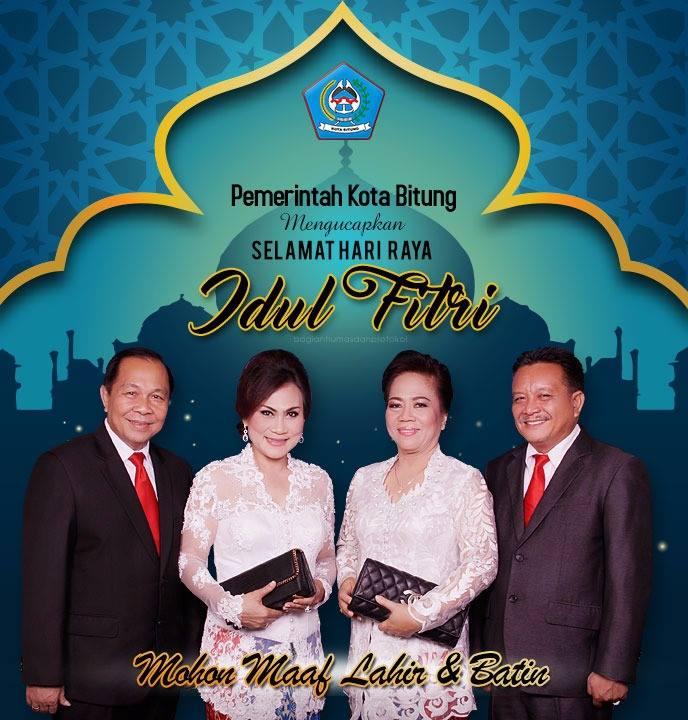 Momentum Idul Fitri 1438 H, Walikota dan Wawali Bitung Ajak Warga Saling Memaafkan