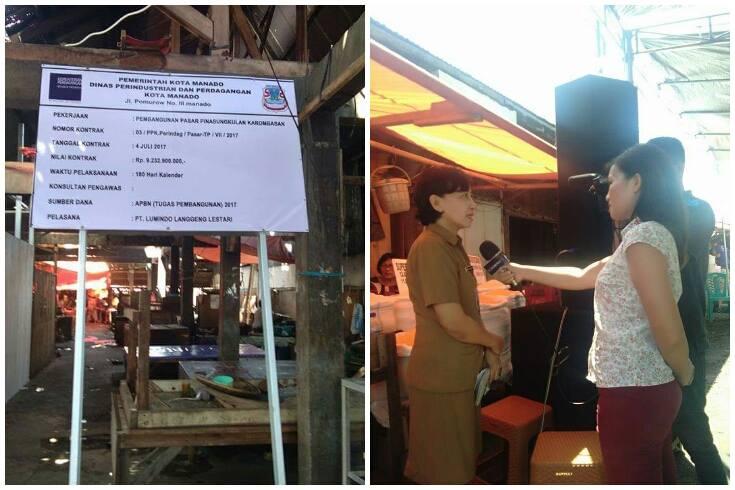 Bangun Los dan Lapak di Pasar Pinasungkulan, Disperindag Manfaatkan Dana Kementerian