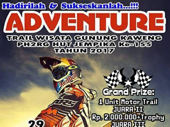 Peringati HUT ke-155, Jemaat GMIM Kaweng dan JS Racing Gelar Kejuaraan Trail Adventure