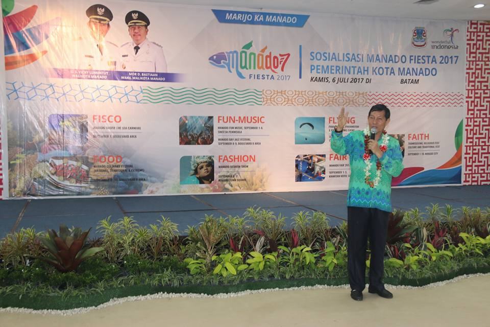 Walikota GSVL Pimpin Langsung Sosialisasi Manado Fiesta di Batam