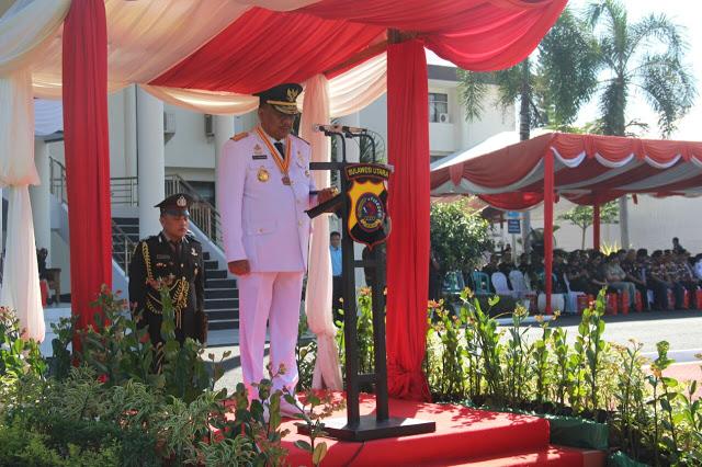 Jadi Irup HUT Bhayangkara ke 71, Olly Bacakan Pesan Presiden Jokowi