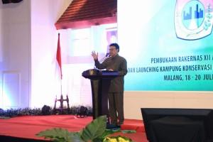 Sambutan dan arahan Menteri Dalam Negeri Tjahjo Kumolo sekaligus membuka Rakernas APEKSI VII