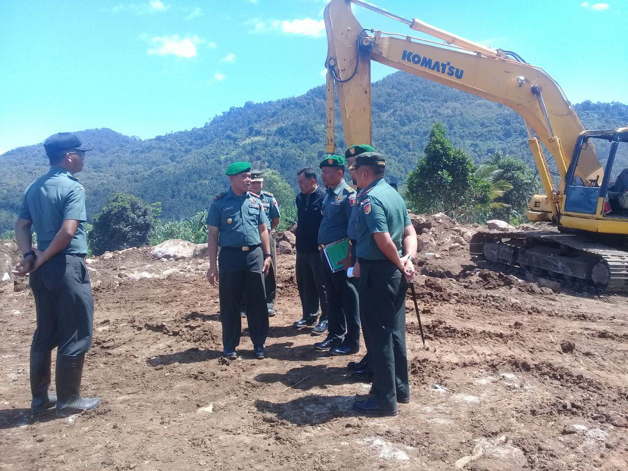 Hari Ini Markas Yonif Raider 712 Wiratama Mulai Dibangun di Bailang