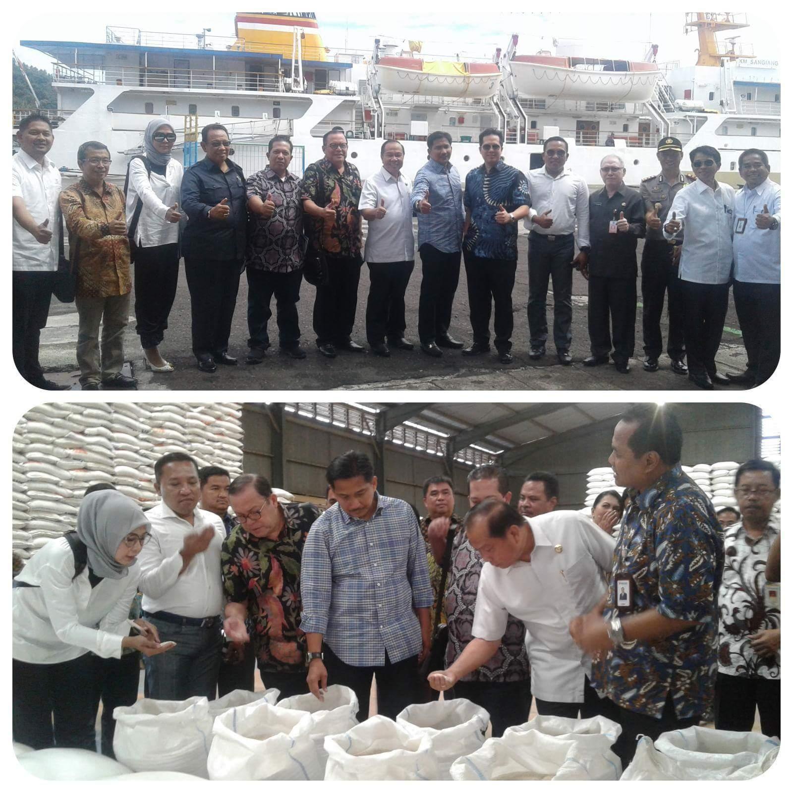 Kunker di Bitung, Komisi VI DPR-RI Sambangi Bulog dan Pelabuhan Samudera