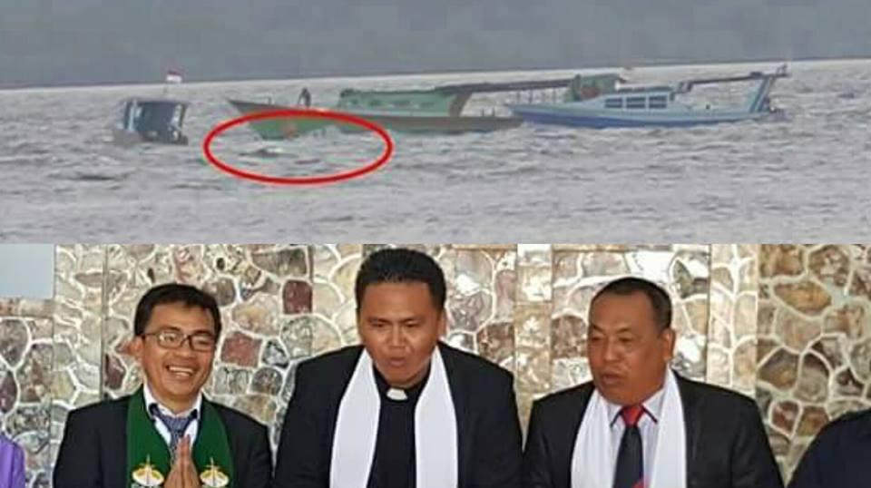 Astaga..! Perahu Terbalik, Ketua PKB Sinode GMIM Dan Rombongan Nyaris Tenggelam