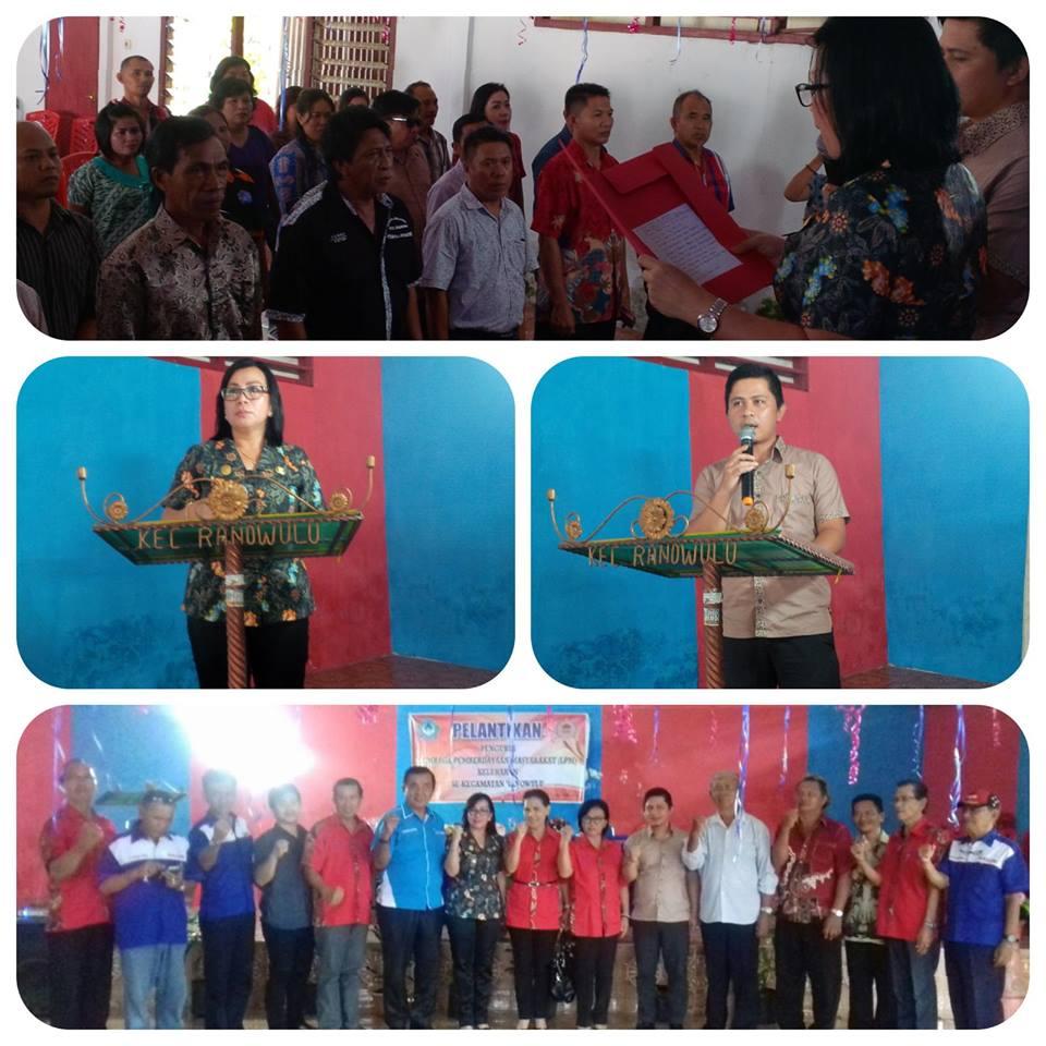 Seluruh Pengurus LPM Kelurahan di Kecamatan Ranowulu Dilantik