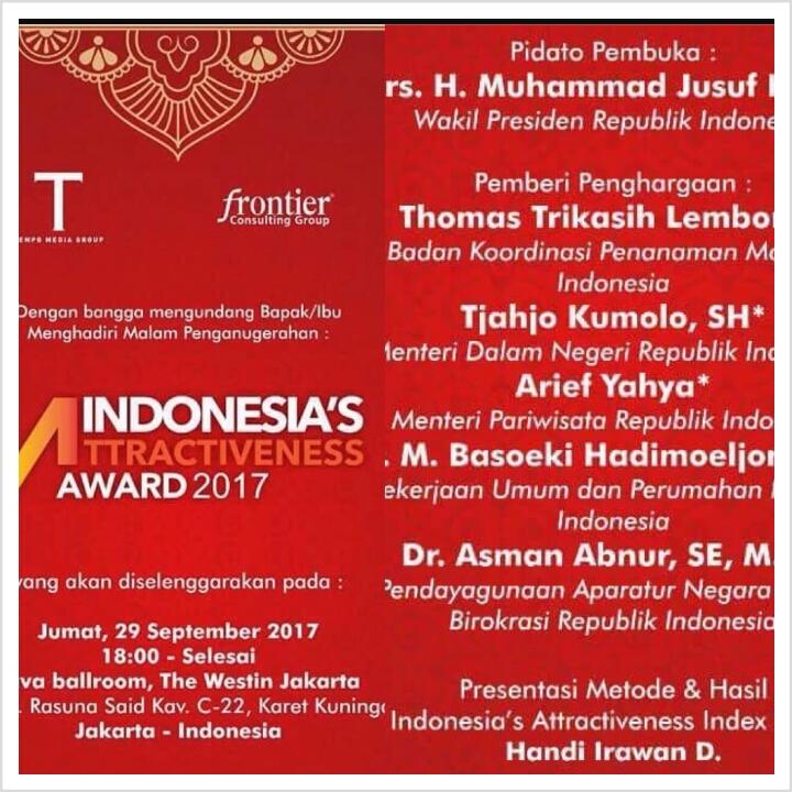"Infrastruktur Kota Manado Potensial bagi Investor, GSVL ""Diganjar"" Award IAI 2017"