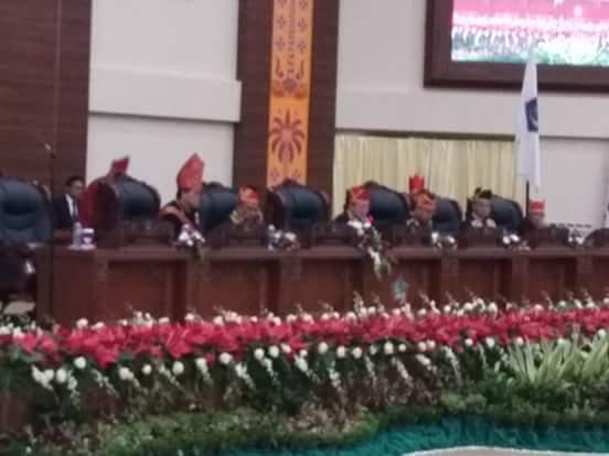 HUT Sulut Ke 53, DPRD Paripurna Perdana di Gedung Baru