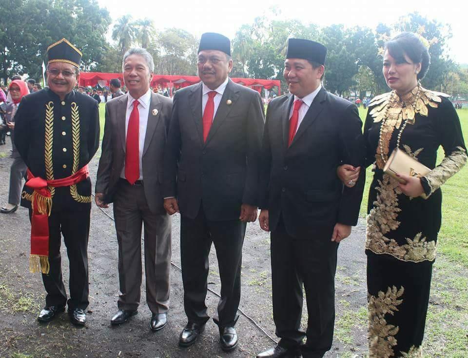 Wakili Bupati, Wabup Minsel dan Sekda Hadiri HUT ke- 53 Provinsi Sulut