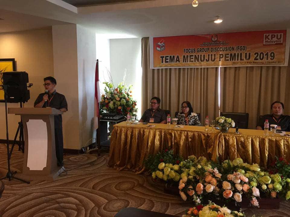 Evaluasi Pemilu, KPU Minsel Gelar FGD