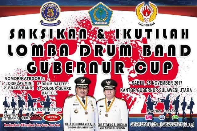 PDBI Sulut Gelar Lomba Drum Band Perebutkan Piala Olly Dondokambey