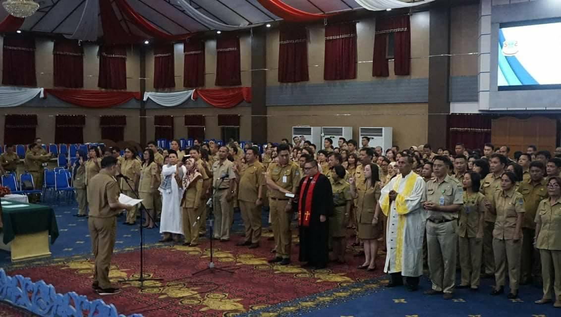 Lantik 281 Pejabat Pemkot Manado, Mor Ingat Intergritas