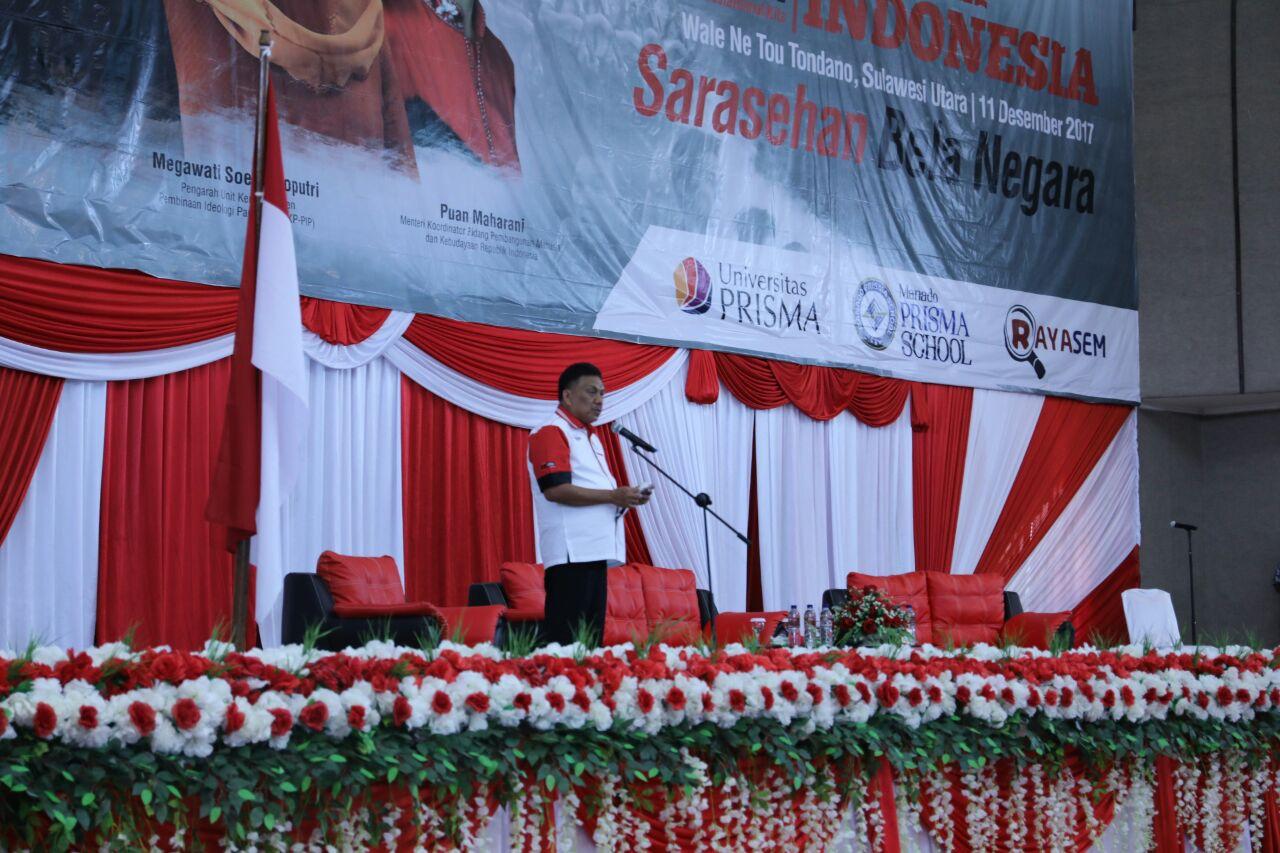 Sarasehan Bela Negara, Gubernur Olly Harap Masyarakat Sulut Semakin Cinta NKRI dan Pancasila