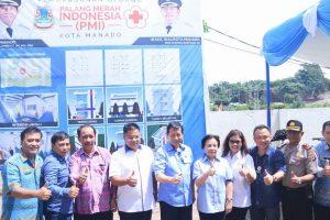 GSVL :Pembangunan Gedung PMI Manado Bantu Warga Untuk Kebutuhan Kesehatan
