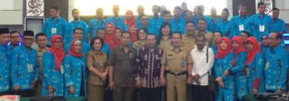 Kaban Liny Paparkan Visi Misi Pemkot Pada Peserta Benchmarking PIM 3 Propinsi NTB