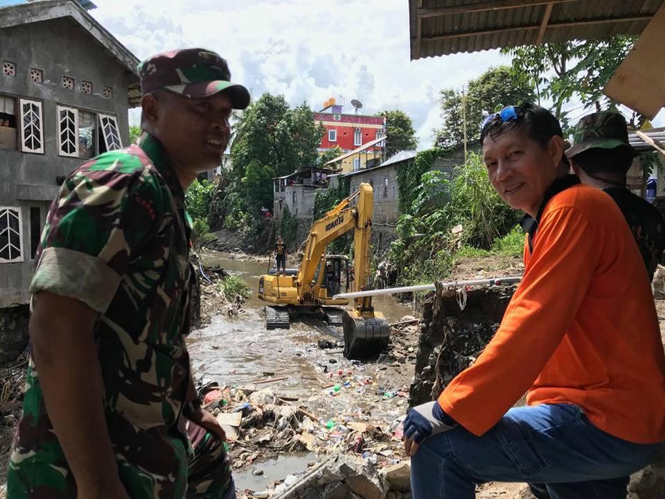 GSVL Gandeng TNI/Polri Bersihkan Lokasi Banjir