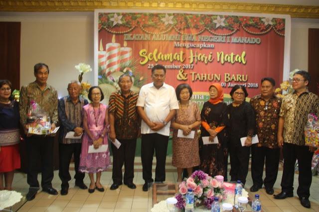 OD Merasa Senang, Ibadah Natal Alumni SMA Negeri 1 Dihadiri Mantan Guru